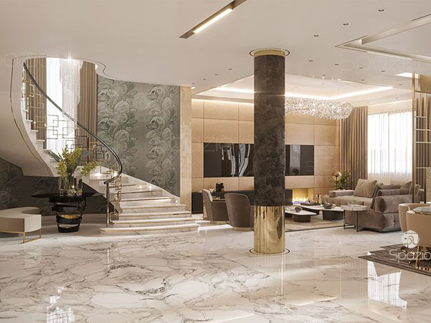 Interior design company dubai interior designers in dubai for Villa lobby interior design