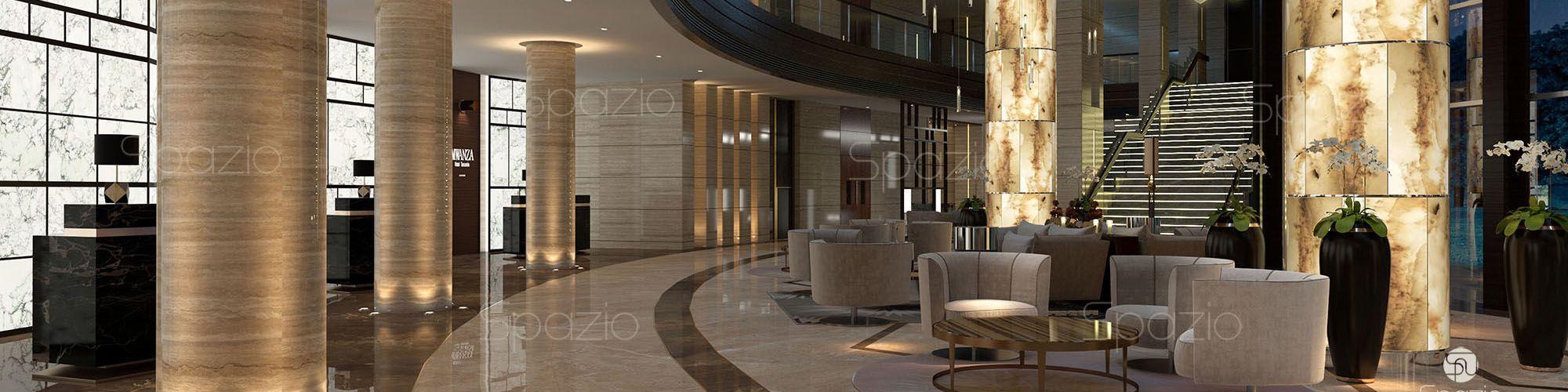 5 star hotel lobby design spazio for Design hotel 5