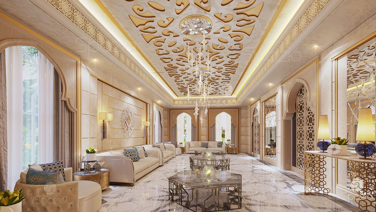 Arabic majlis interior design in the uae spazio for Arabic interiors decoration