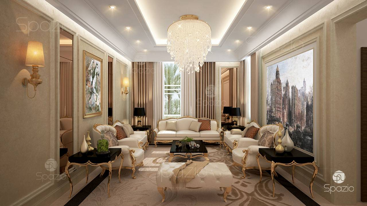 Majlis interior design is created by Spazio company in UAE