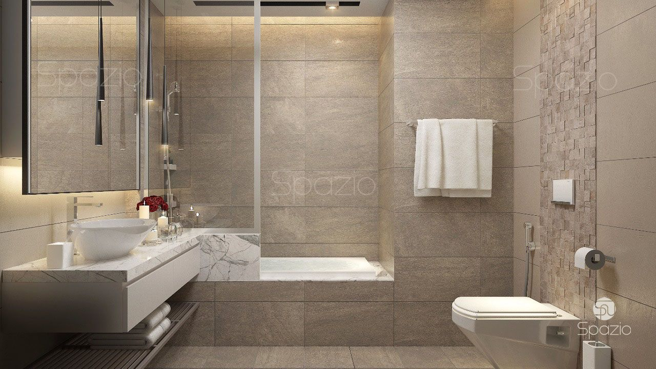 Modern apartment interior design in dubai spazio Bathroom design jobs dubai