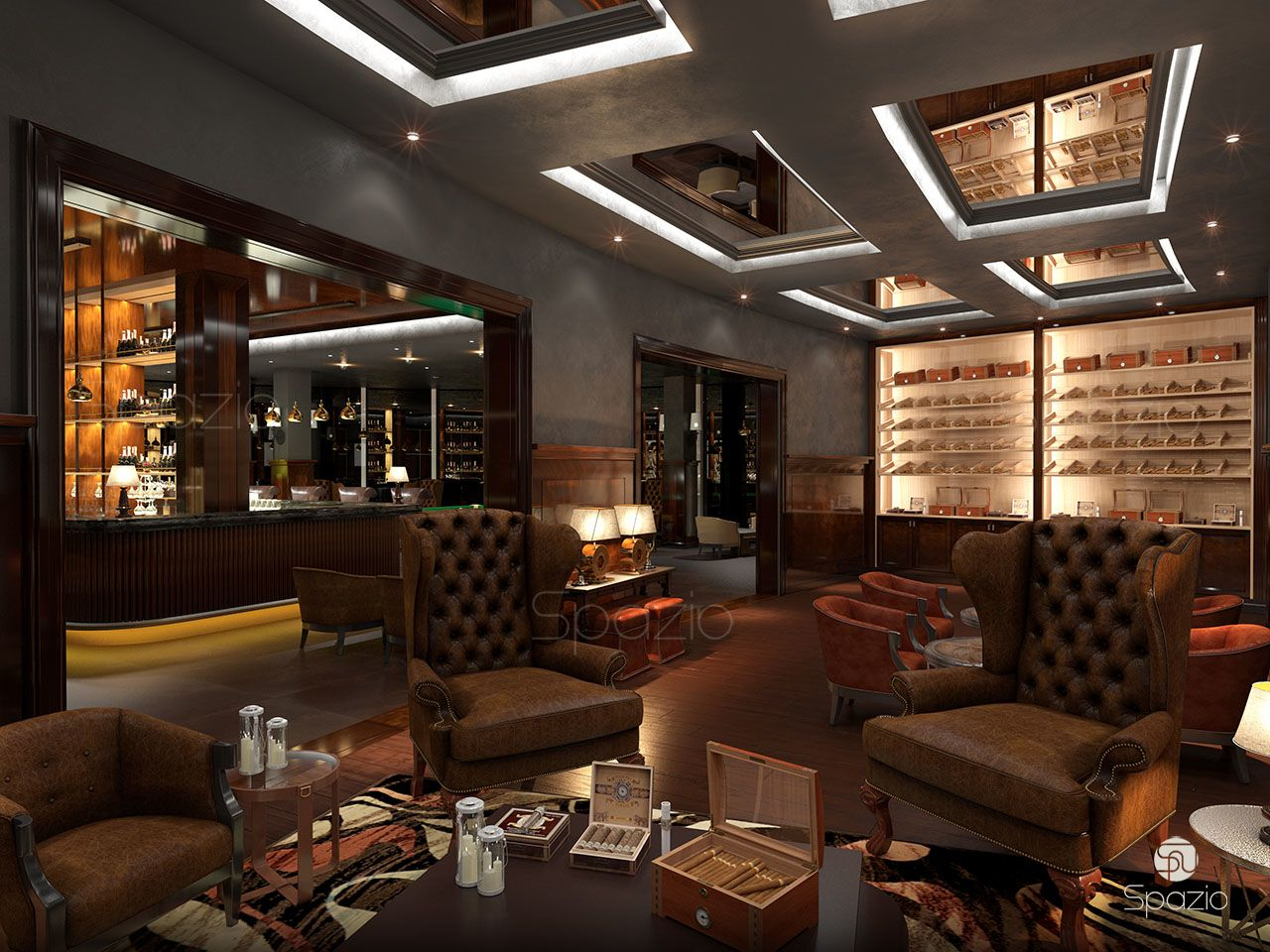 Cafe restaurant interior design in dubai spazio
