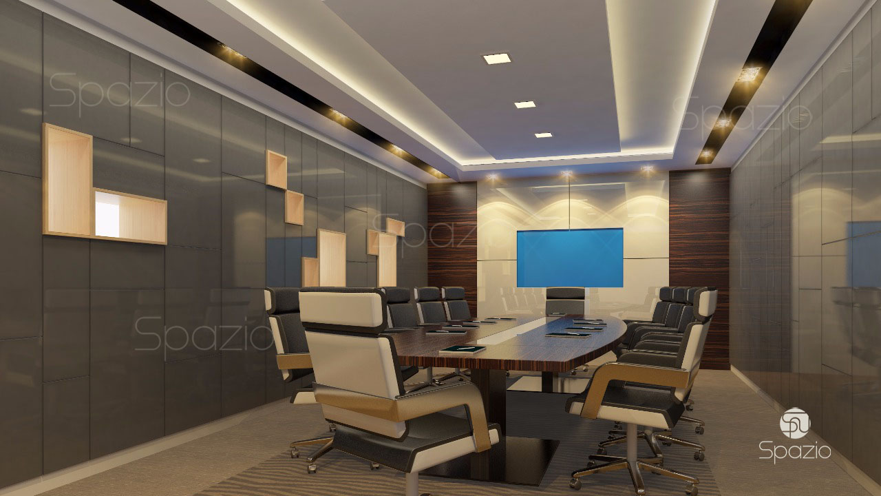 An image of one of the best meeting rooms made with a discreet decor and monophonic wall surfaces.