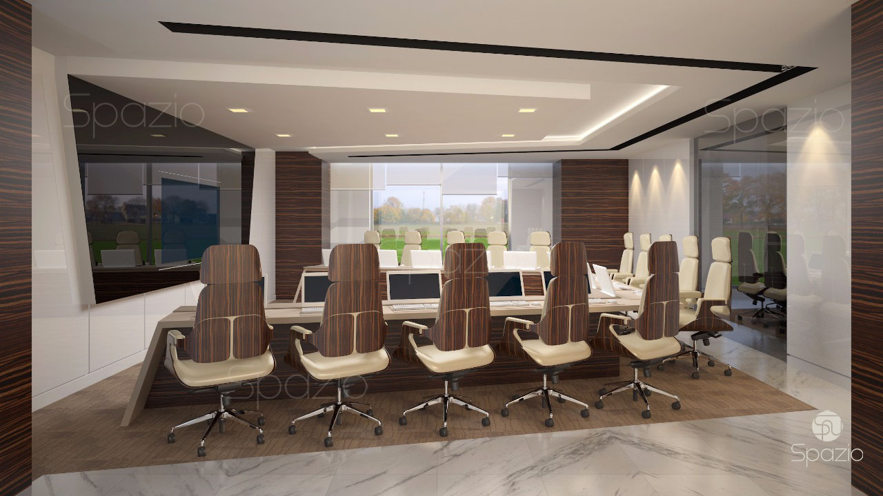 Boardroom was created by Spazio Decoration company for successful business firm in UAE