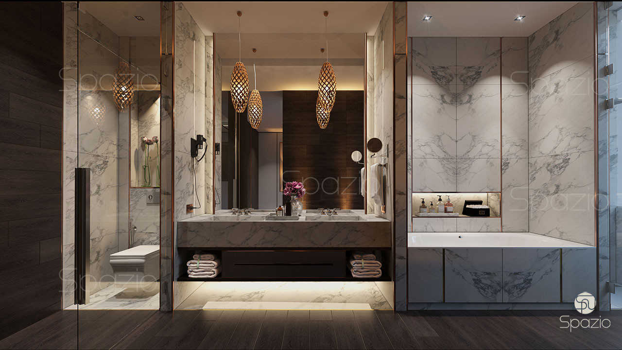 Hotel bathroom interior design spazio for Bathroom interior design dubai