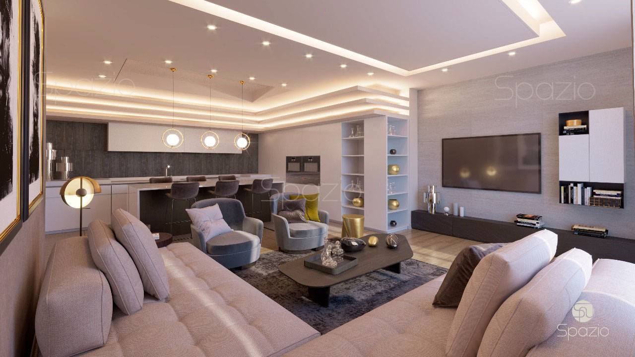Dubai dpartment interior design is created by Spazio