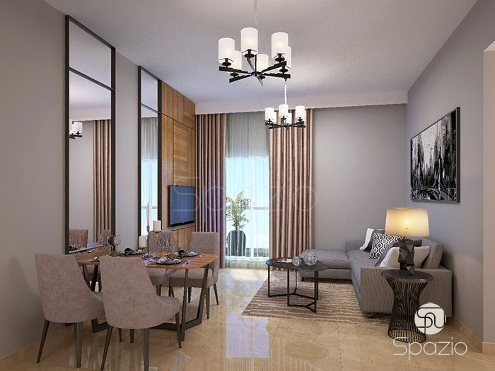 living room interior design for apartment project