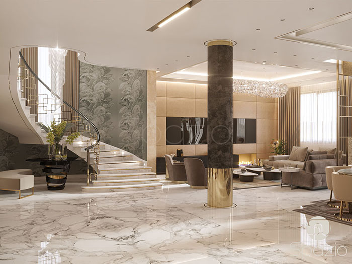 luxury interior design projects in UAE is developed by Spazio