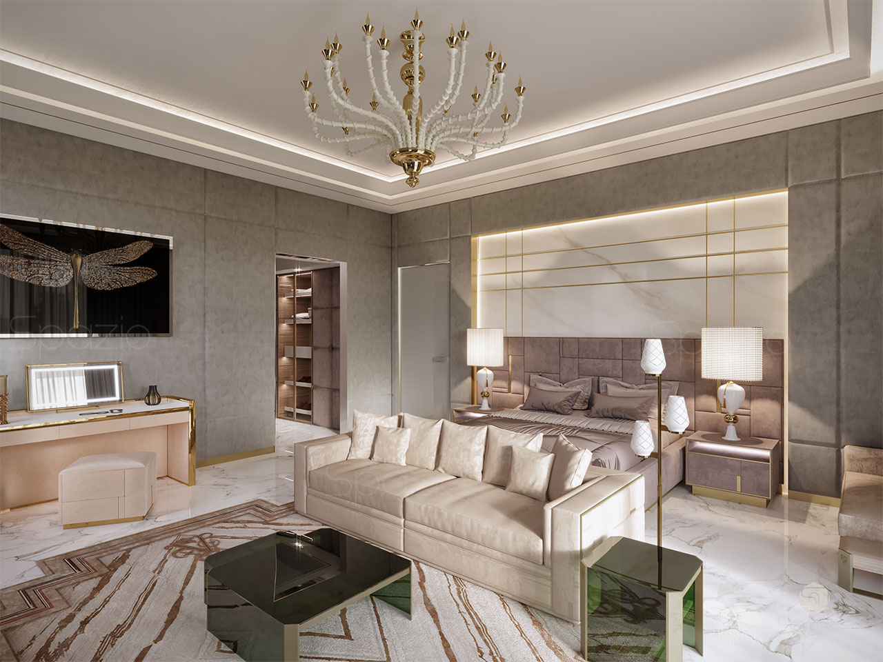 luxury master bedroom design dubai uae