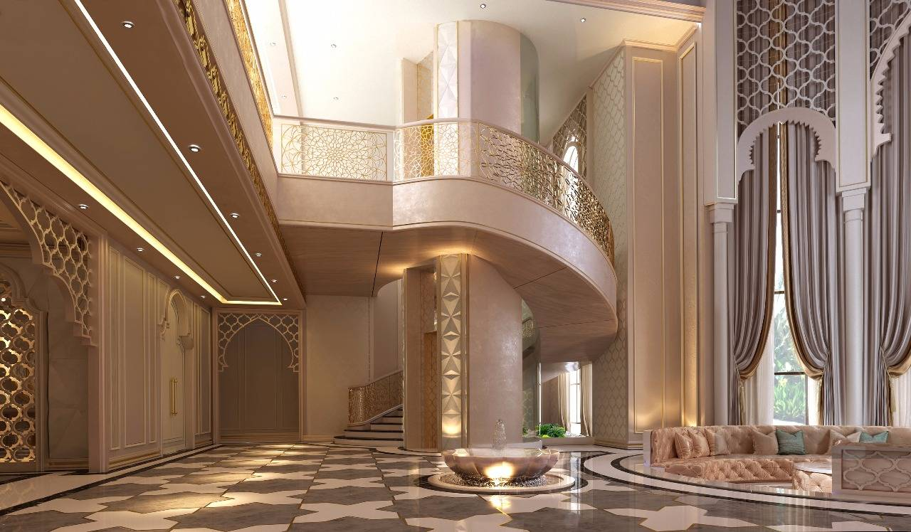 Luxurious large main staircase leading to a private part of the house