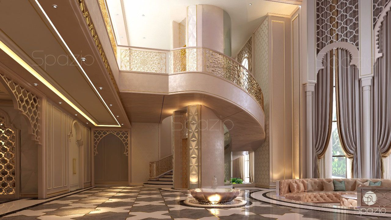 Luxury interior design in dubai 2018 spazio for Villa lobby interior design
