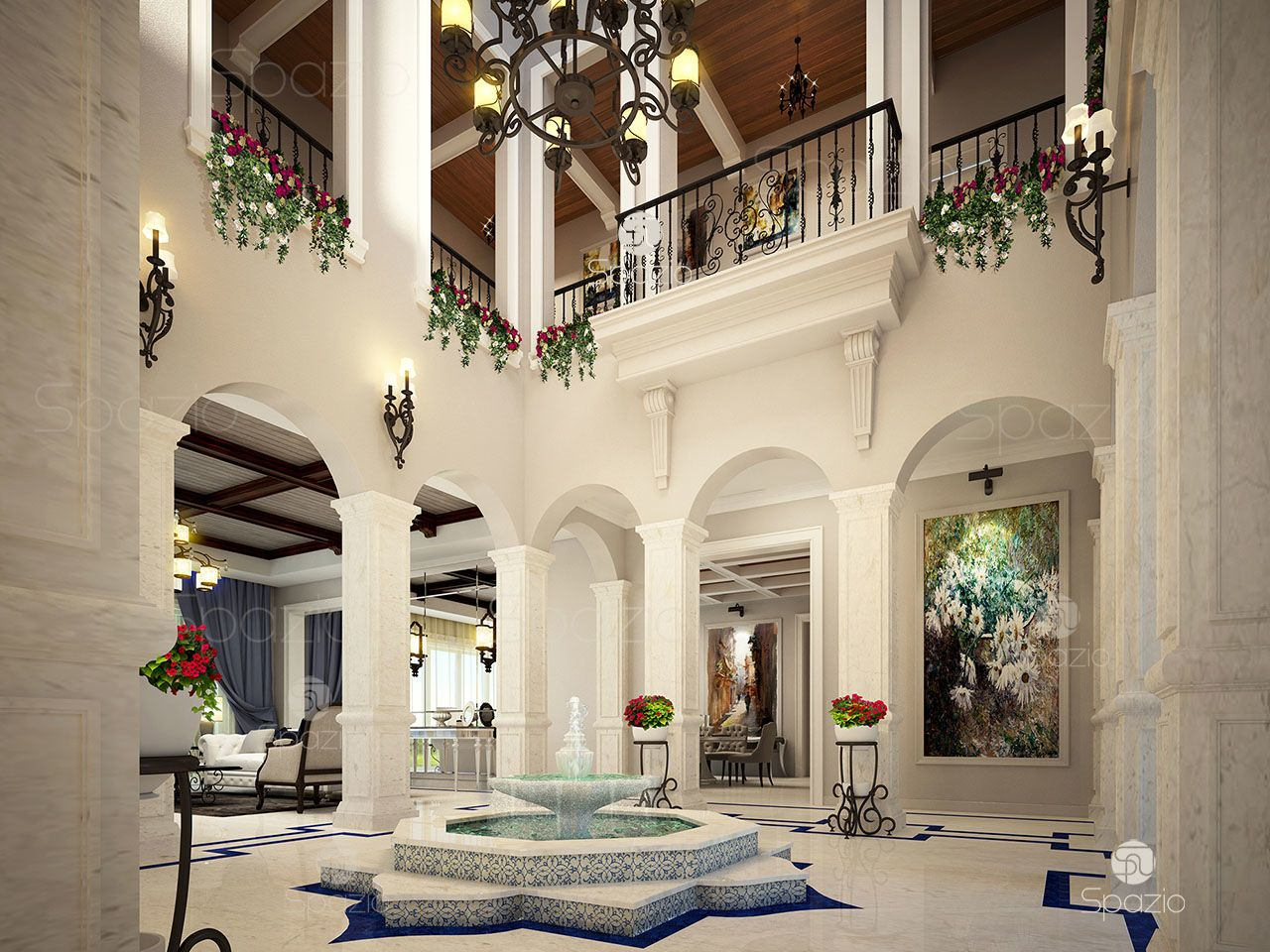 main entrance palace interior design dubai
