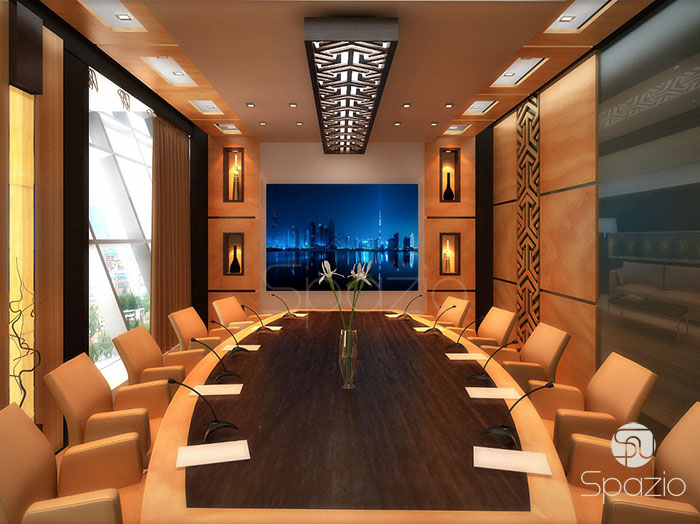 meeting room in office design project in Dubai