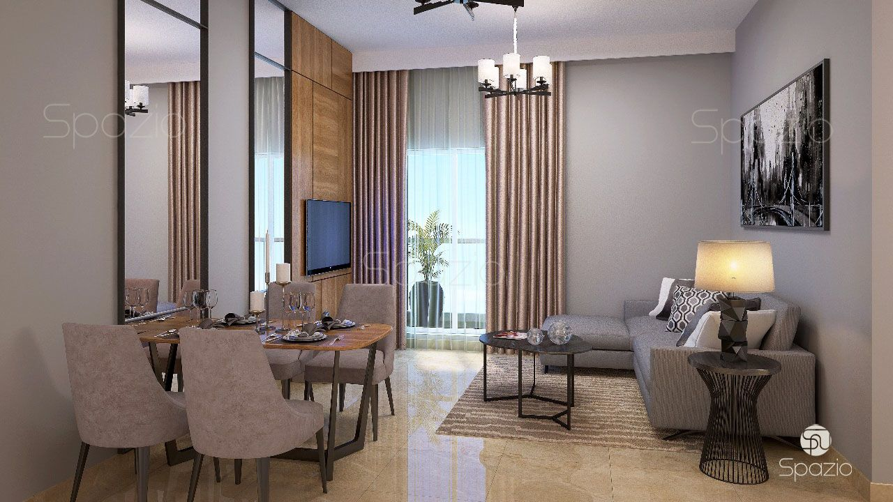 Modern apartment interior design in dubai spazio for One agency interior design dubai