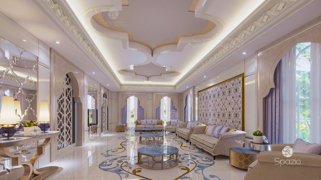Arabic seating majlis interior design in dubai spazio for One agency interior design dubai