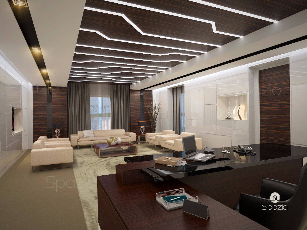 Office interior design company in dubai spazio for Office interior design pictures