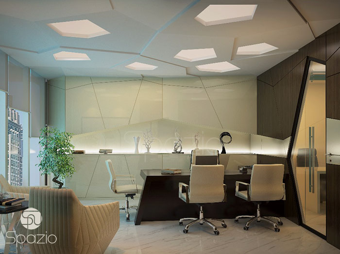 modern office interior design project in Dubai