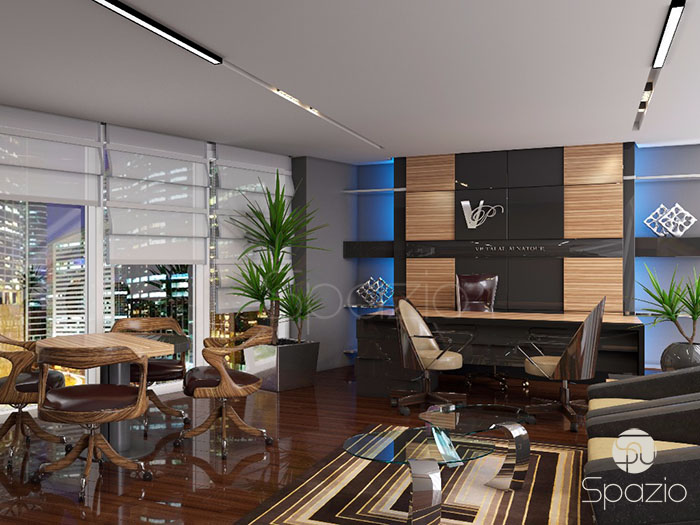 modern luxury office design project in business bay Dubai