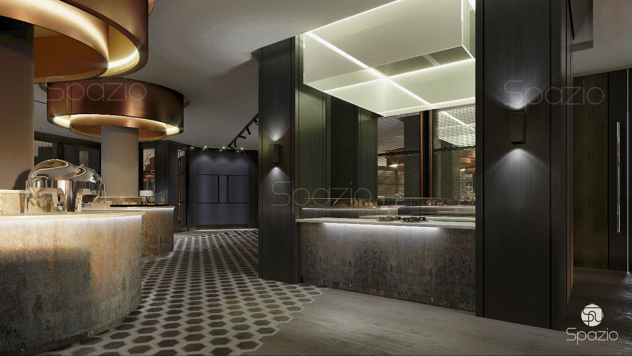 Ultra modern restaurant design in the uae spazio for One agency interior design dubai