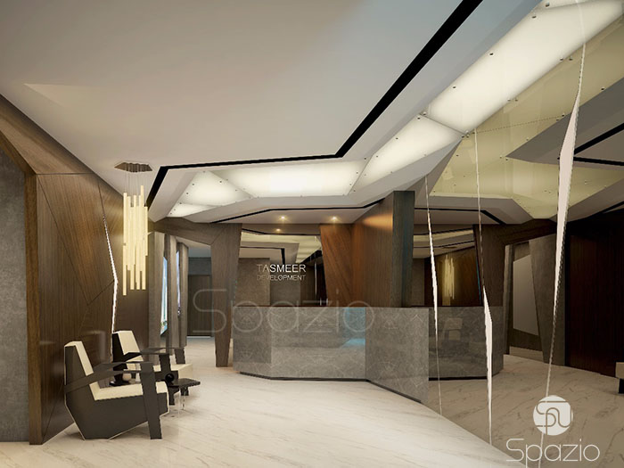 office design project in ultra modern style in Dubai | Spazio design company