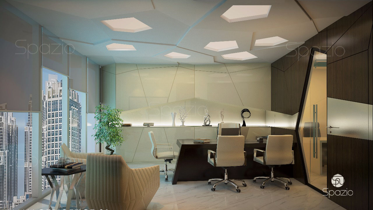 Office interior design company in dubai spazio for Interior designer office