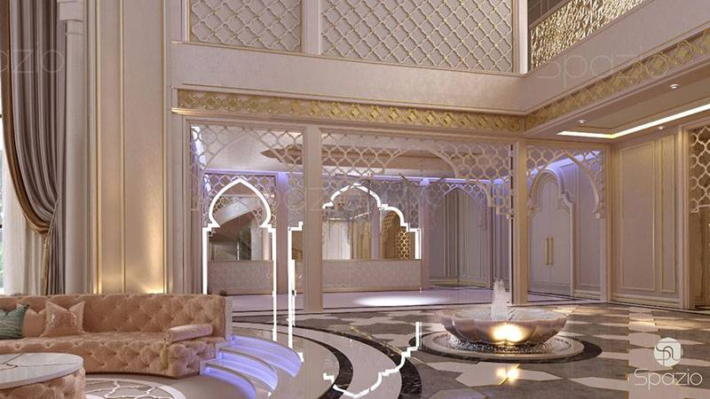 uae villa interior design in luxury style | Spazio Interior Decoration LLC