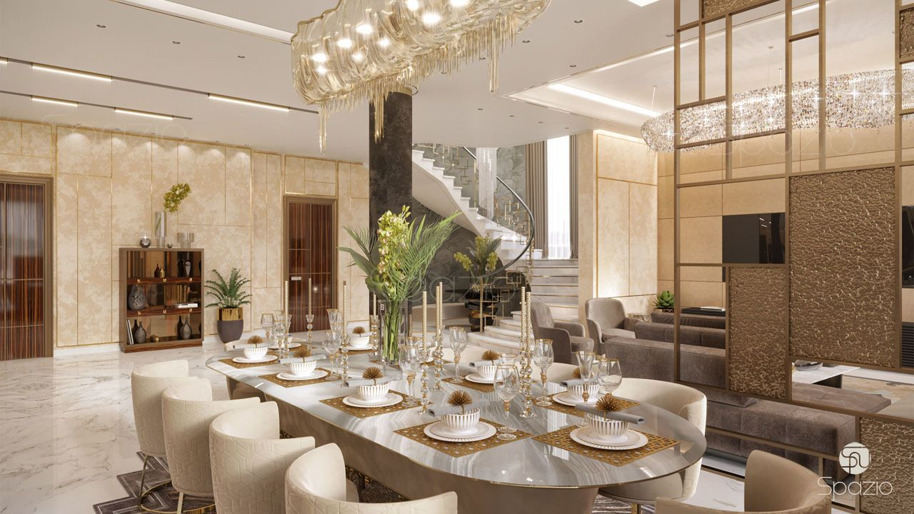 interior design for a dining room in Dubai home | Spazio, UAE