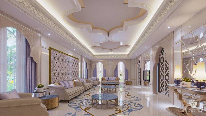 majlis refurbishment with the use of expensive materials and unusual patterns