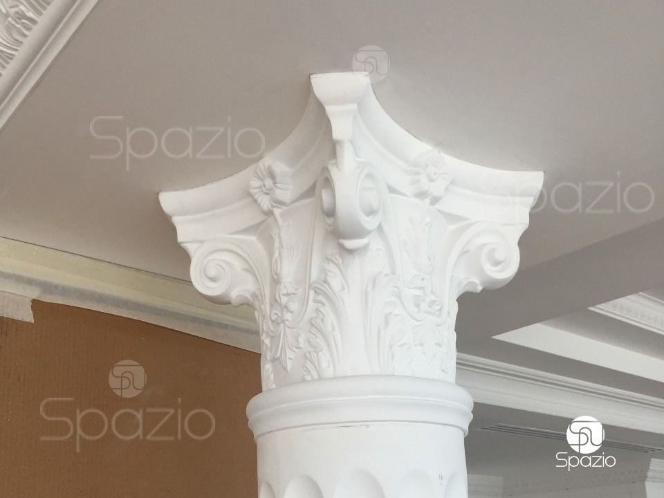 Look at the photo of the ceiling and the columns in the classical style. This is an example of high-quality execution.