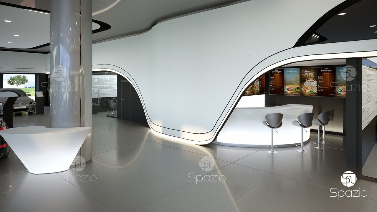 meeting room for working with customers in the car showroom was developed by us