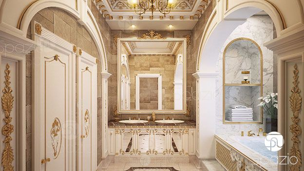 A Royal bathroom in a residential palace