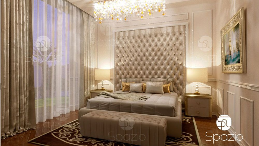 luxury interior design of bedroom