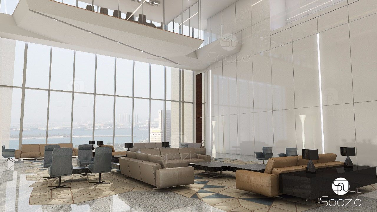 interior of large office in Dubai
