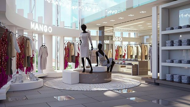 the retail interior design