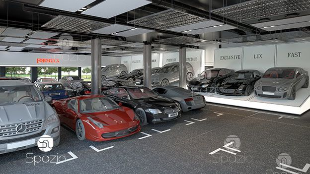 Modern Auto Dealership Interior Design Spazio