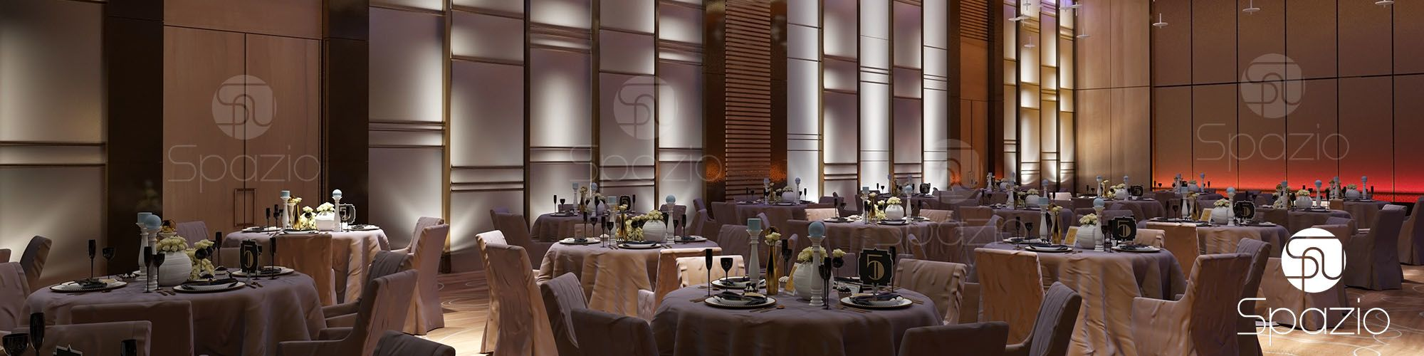banquet hall from the best hotel designers of Spazio