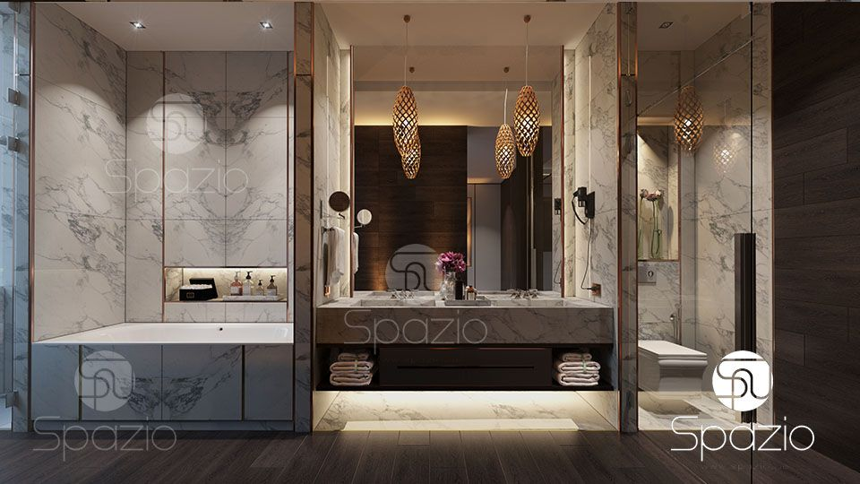 Best hotel bathroom interior design in dubai spazio for Best bathroom interior design