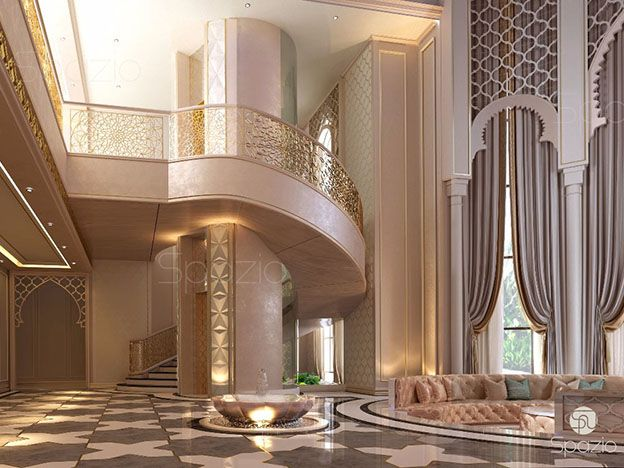 luxury architecture decoration of the main staircase