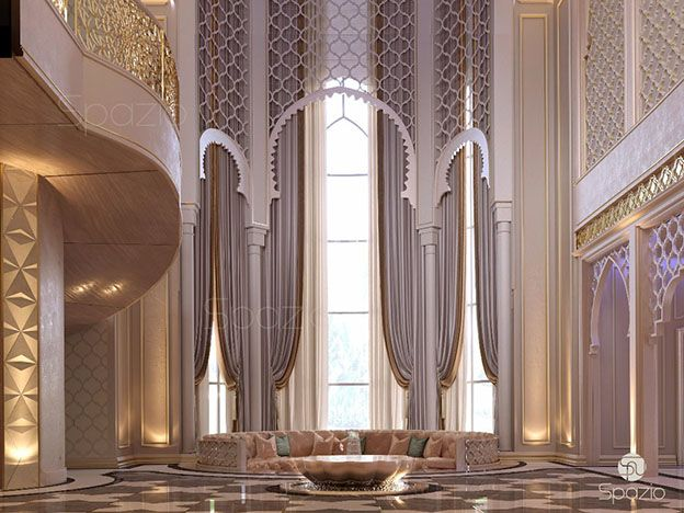 interior decorating with Arabic patterns in luxury Dubai house