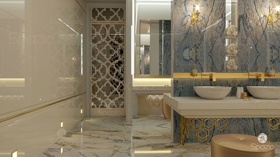 Interior design of hotels in dubai top designers spazio for 5 star bathroom designs