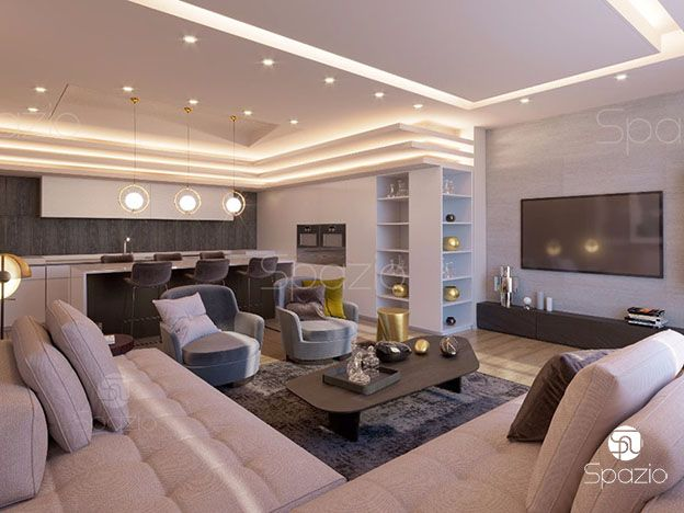 Decoration solution for an apartment in the UAE.