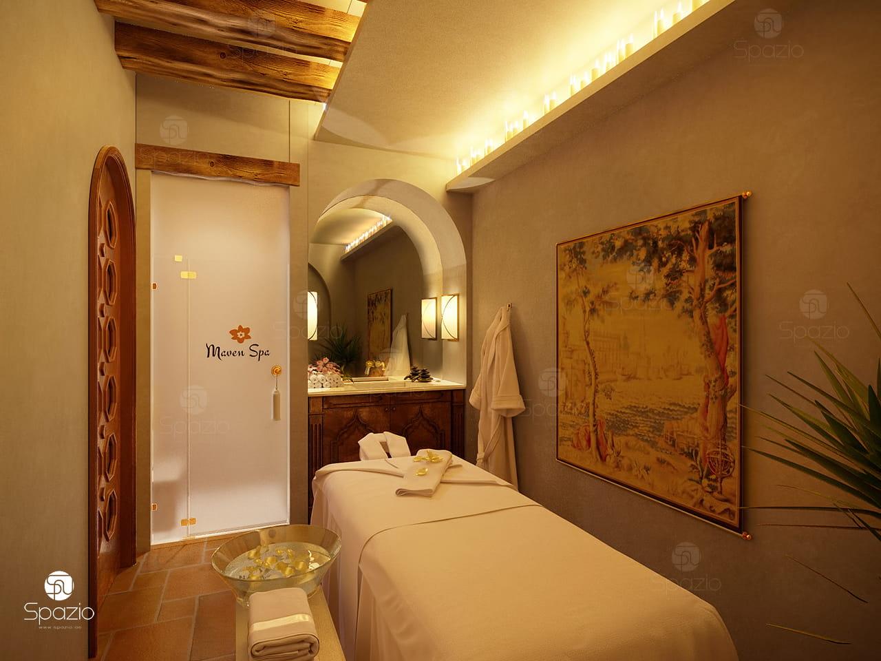 Massage room interior design