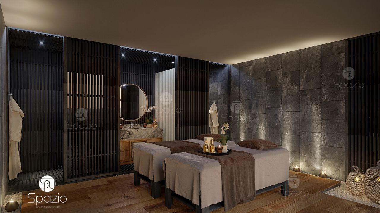 Massage salon interior design Dubai