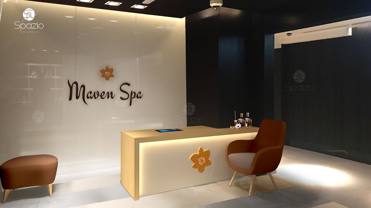 Modern beauty salon interior design in Dubai ☆Hair☆Nail☆Spa | Spazio