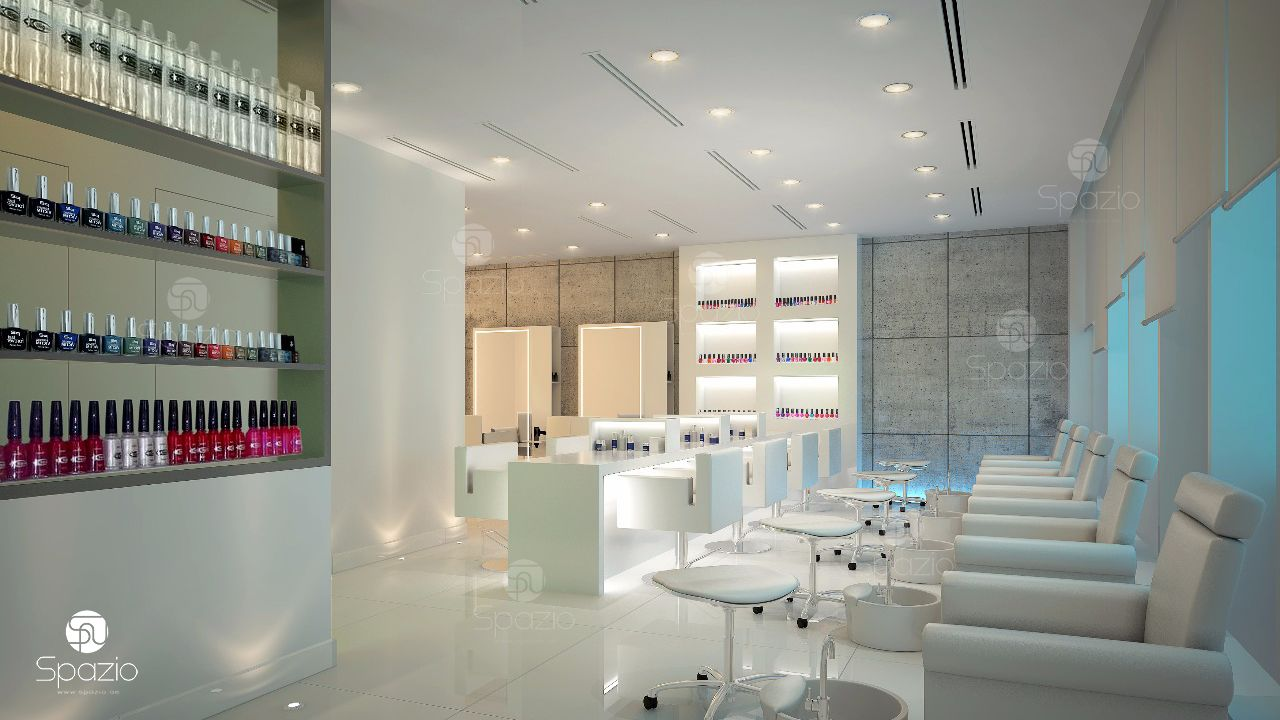 Modern beauty salon interior design in Dubai ☆Hair☆Nail☆Spa