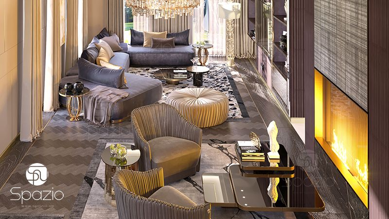 House design with Roberto Cavalli brand furniture.