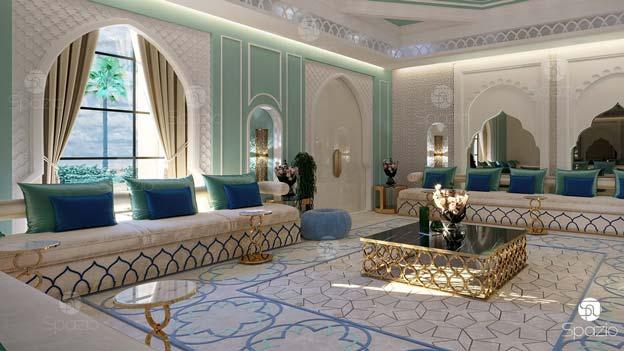 Woman majlis arabic style decoration