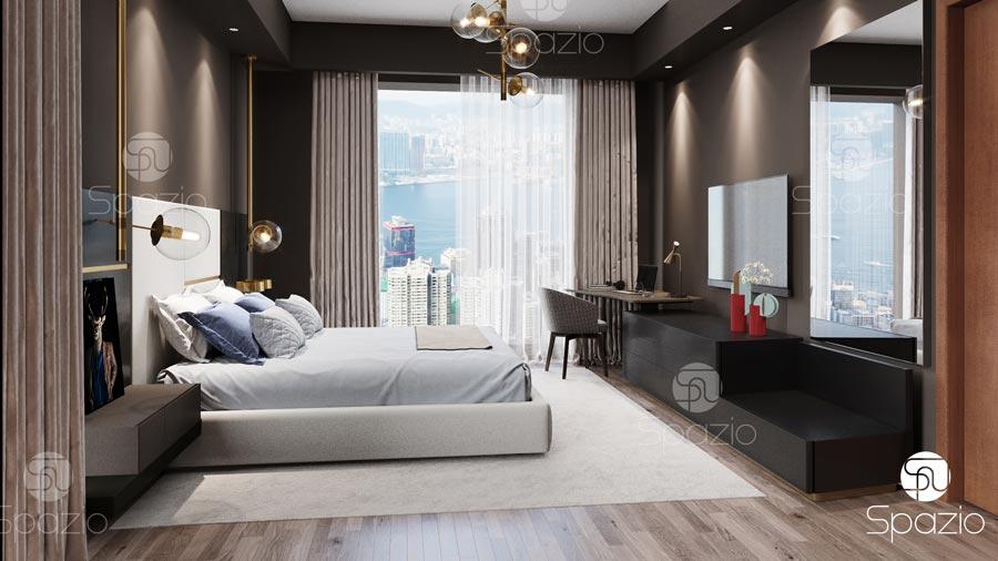 . Bedroom interior design for a men    Spazio