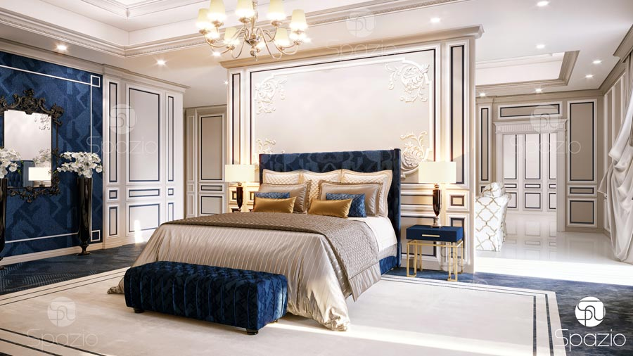 . luxury Master bedroom interior design in Dubai   2019   Spazio
