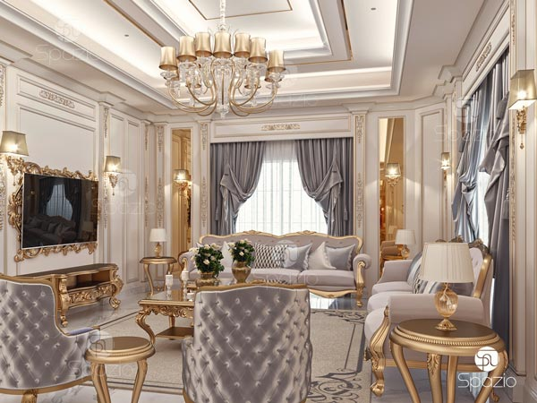 Classical inside decorations for a residential house